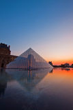 Louvre at dusk Royalty Free Stock Photo