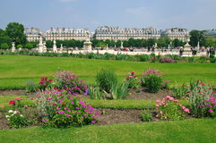 Louvre en de tuinen Royalty-vrije Stock Foto's