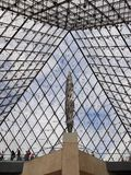 Louvre, Entry Foyer Under Glass Pyramid, Paris Stock Photo