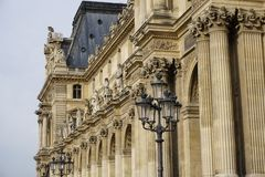 Louvre Exterior Royalty Free Stock Image