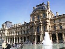 louvre fontanna zdjęcie stock