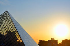 The Louvre, France. The Louvre or the Louvre Museum (French: Musée du Louvre, pronounced: [myze dy luvʁ]) is one of the world's largest museums and a historic Stock Photo