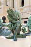 Louvre-Frans en Italiaans Beeldhouwwerk Stock Afbeeldingen