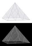 Louvre glass pyramid building vector illustration