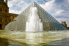 Louvre Glass Pyramid, Paris Stock Images