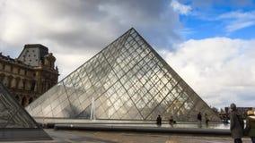 Louvre hyperlapse stock video footage