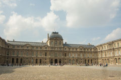 Louvre inner courtyard Royalty Free Stock Images