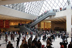 Louvre - Interior Royalty Free Stock Photos