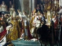 Louvre - Jacques-Louis David koronacja Napoleon zdjęcia royalty free