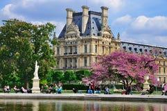 The Louvre from Jardin de Tuileries stock photo