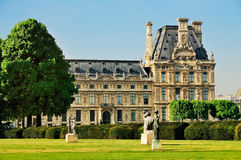 Louvre from the Jardin des Tuileries. The Louvre as seen from the Jardin des Tuileries Royalty Free Stock Photos