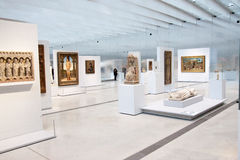 Louvre Lens exposition. The most visited museum in the world, Louvre in Paris, France has open an annex in Lens in the North of France. View of the interior royalty free stock photos