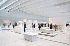 Louvre Lens exposition. The most visited museum in the world, Louvre in Paris, France has open an annex in Lens in the North of France. View of the interior royalty free stock images