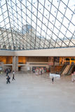 Louvre Lobby under the Pyramid II in Paris, France Stock Photo