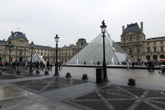 Louvre musee entrance Royalty Free Stock Photo
