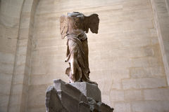 Louvre musee nike samotracia Royalty Free Stock Photography
