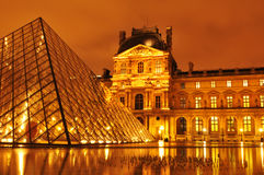 Louvre Museum. In Paris, by night Stock Photography