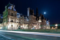 Louvre Museum. Night view of the Louvre Museum in Paris, France Royalty Free Stock Images