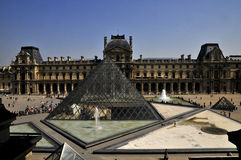 Louvre museum. In France (Paris). One of the most famous museums in the world Royalty Free Stock Photography