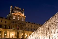 The Louvre Museum. (French: Musée du Louvre), located in Paris, France, is the world's most visited art museums, a historic monument, and a national symbol Royalty Free Stock Photos
