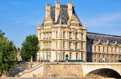 The Louvre Museum as seen from the Seine. Paris. Royalty Free Stock Image