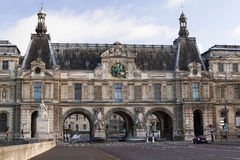 Louvre Museum. The building of the Louvre Museum in Paris. View from the river Seine Royalty Free Stock Photo