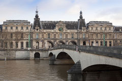 Louvre Museum. The building of the Louvre Museum in Paris. View from the river Seine Royalty Free Stock Photography
