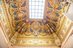 Louvre Museum ceiling and window Royalty Free Stock Photos