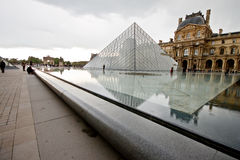 Louvre Museum with cloudy day 2 Stock Photo
