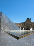 The Louvre Museum Courtyard Stock Image