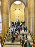 Louvre Museum The Escalier Daru Royalty Free Stock Photography