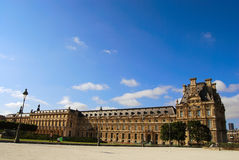 Louvre museum exterior Royalty Free Stock Photos