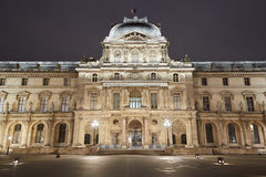 Louvre museum facade in Paris Stock Photos