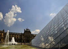 Louvre museum -fountains Royalty Free Stock Images