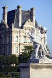 Louvre museum - France - Paris. Louvre museum from Les Tuileries garden - France - Paris stock image