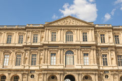 Louvre Museum front view Stock Photo