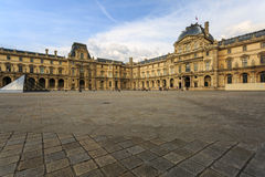 The Louvre Museum The Grand Louvre in Paris. Royalty Free Stock Photo