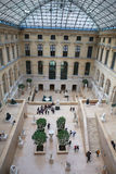 In the Louvre museum. Royalty Free Stock Images
