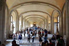 Louvre Museum Hallway Royalty Free Stock Images