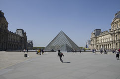 The Louvre Museum. Has very beautiful exteriors Royalty Free Stock Photos