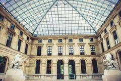 Louvre Museum interior Royalty Free Stock Photo