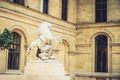 Louvre Museum interior Royalty Free Stock Photos