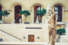 Louvre Museum interior Stock Images