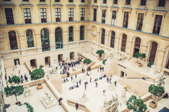 Louvre Museum interior Royalty Free Stock Photo