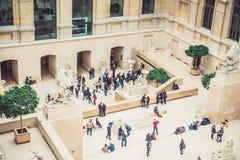 Louvre Museum interior Stock Image