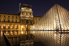 Louvre Museum and its pyramid Stock Photo