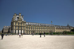 Louvre Museum in jardin des tuileries Stock Image