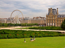 The Louvre Museum and  labyrinth in Paris city Stock Images