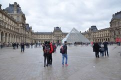 Louvre museum!! Royalty Free Stock Photography
