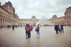 Louvre museum !!. Love in Paris city Stock Image